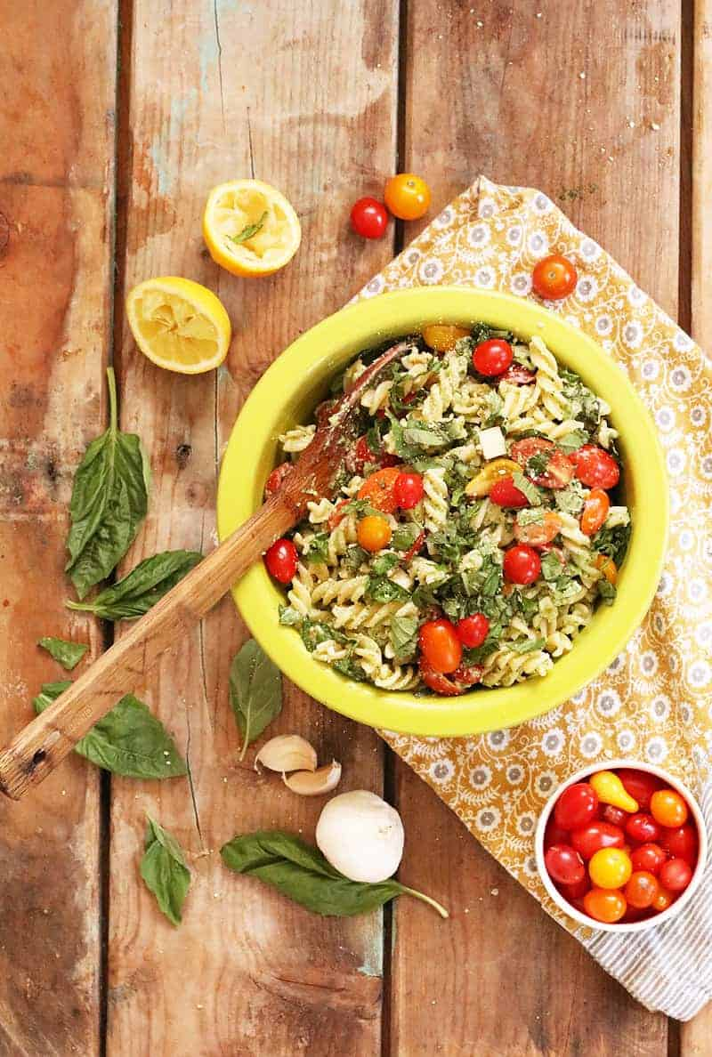kale pesto pasta salad with sun dried tomatoes and one pot ...