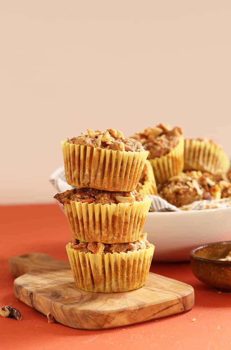 Stack of Healthy Carrot Muffins