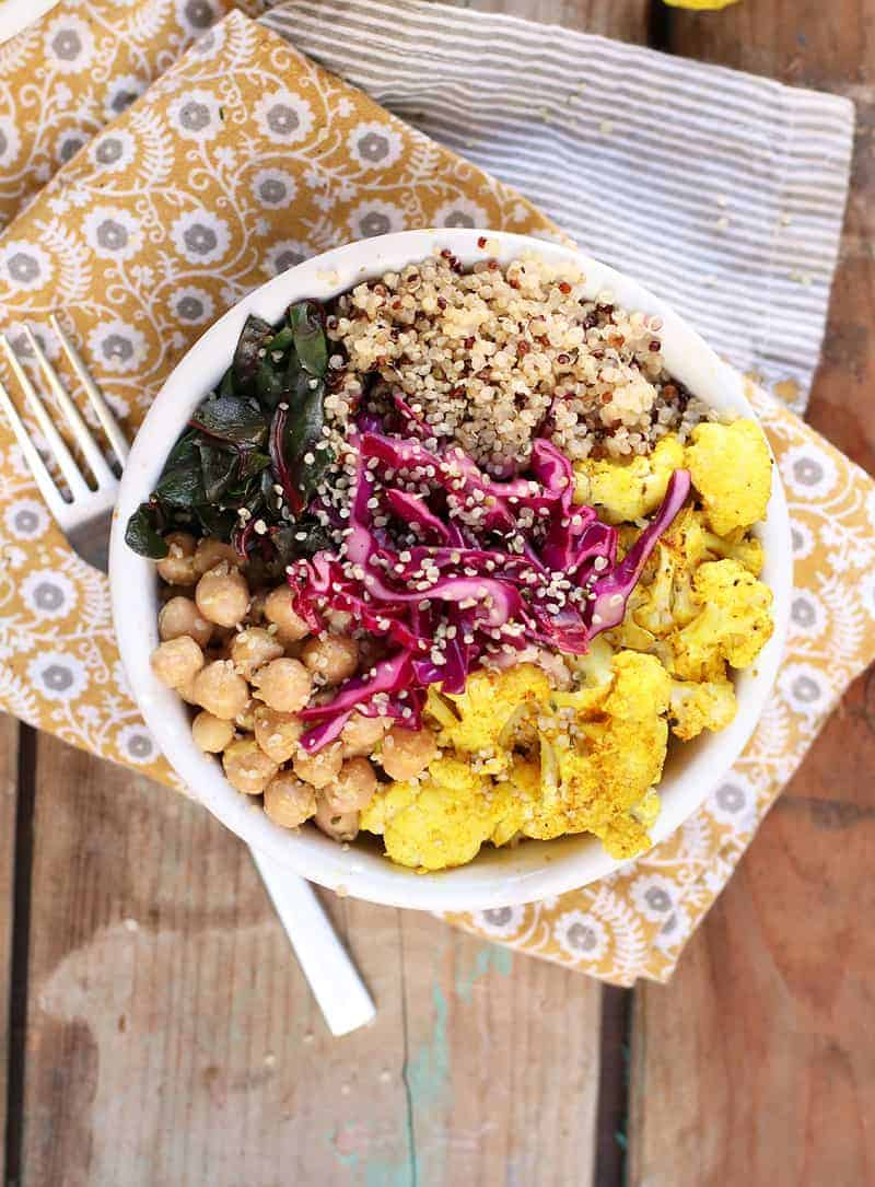 Roasted Cauliflower Quinoa Bowl
