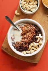 Healthy Chocolate Peanut Butter Oats