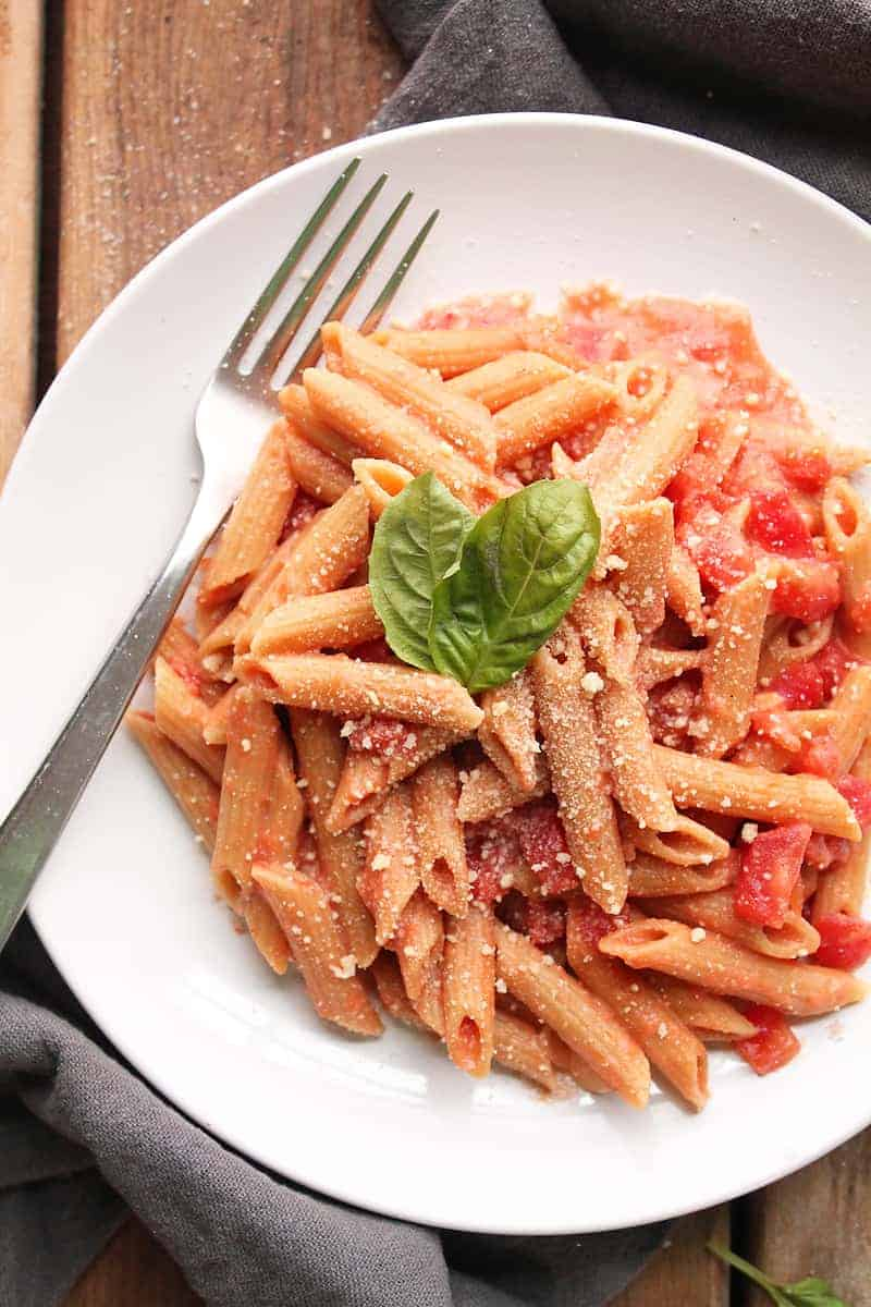 Penne Pasta with Vodka Cream Sauce