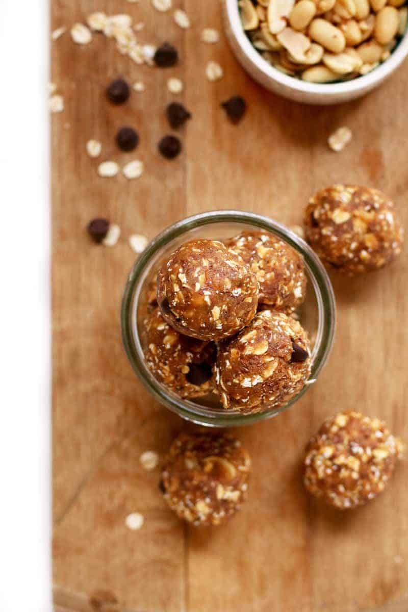 Jar of Peanut Butter Protein Balls