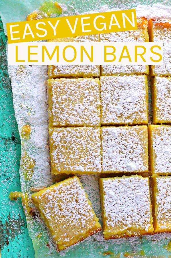 These vegan Lemon Bars are made with a buttery shortbread crust and filled with an easy Meyer lemon curd for the perfect sweet and sour treat. #vegan #lemonbars #veganrecipes #vegandesserts #vegetarian #meyerlemons #mydarlingvegan