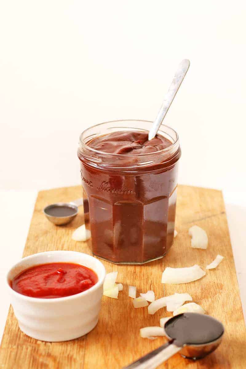 Homemade BBQ Sauce in jar