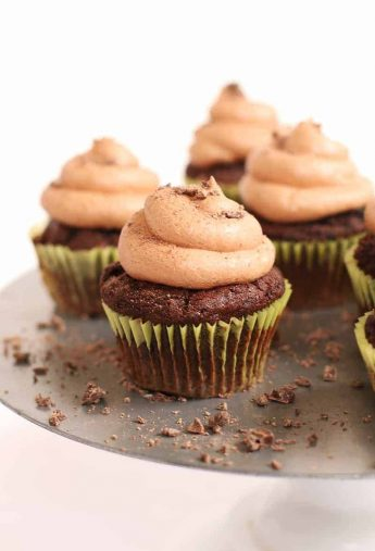 Vegan Chocolate Cupcakes with Chocolate Buttercream