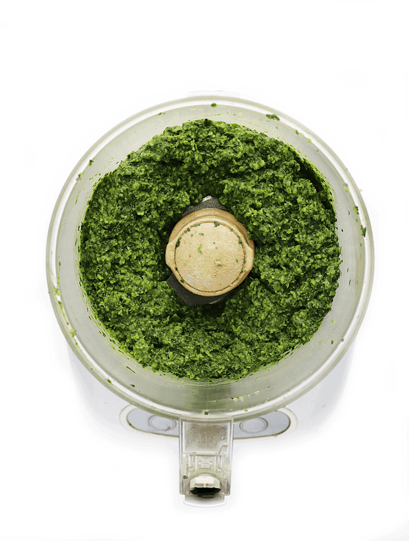 Kale pesto in food processor