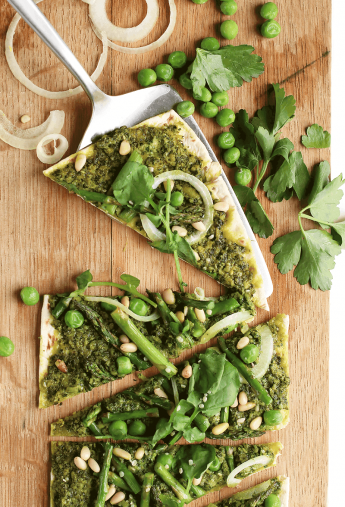 Green Goddess Pizza with Kale Pesto