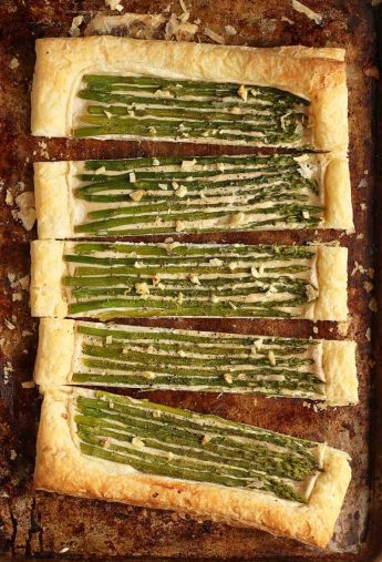 Vegan Asparagus and Cashew Cream Tart