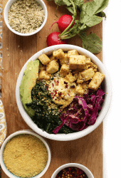 Vegan Breakfast Bowl with Tofu and Kale