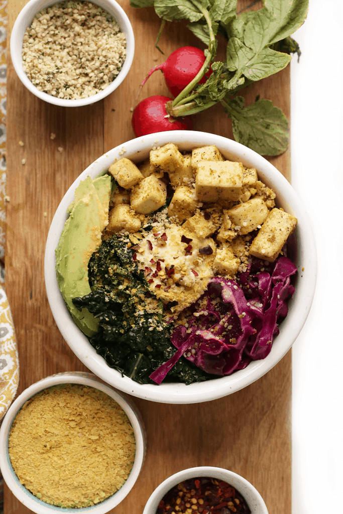 Tofu Kale Breakfast Bowl