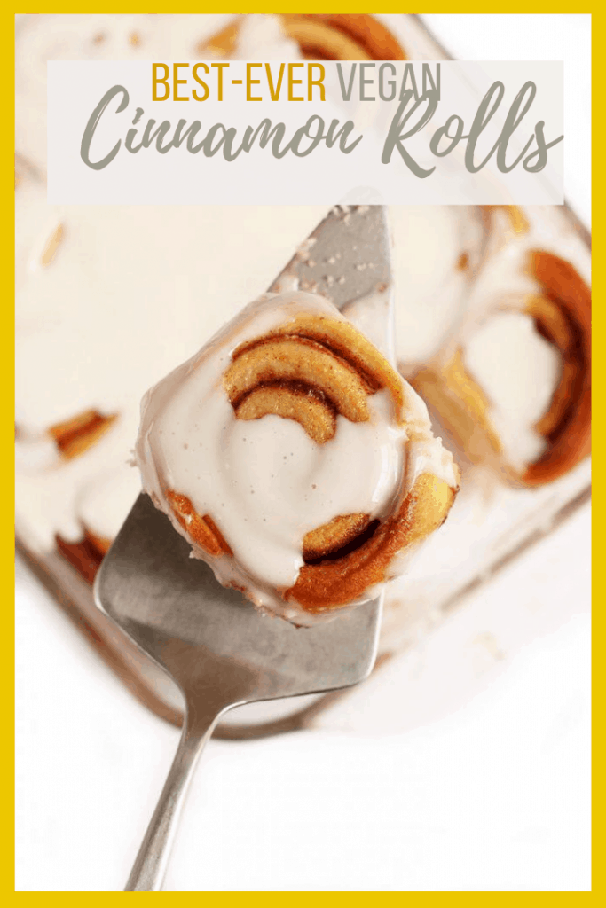 These easy vegan cinnamon rolls are sweet, tender, and filled with cinnamon flavor for a plant-based spin on a classic favorite. Simple and fool-proof.