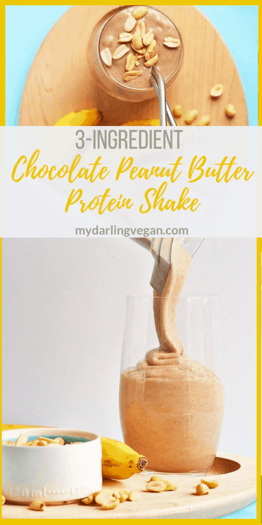 A delicious and refreshing chocolate peanut butter protein shake made with just 3 simple, plant-based, protein-rich ingredients. Made in just 5 minutes for a wholesome and hearty breakfast.