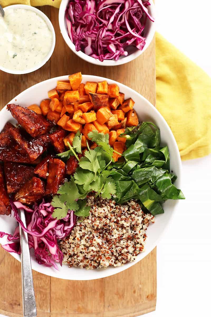 BBQ Tempeh Quinoa Bowls