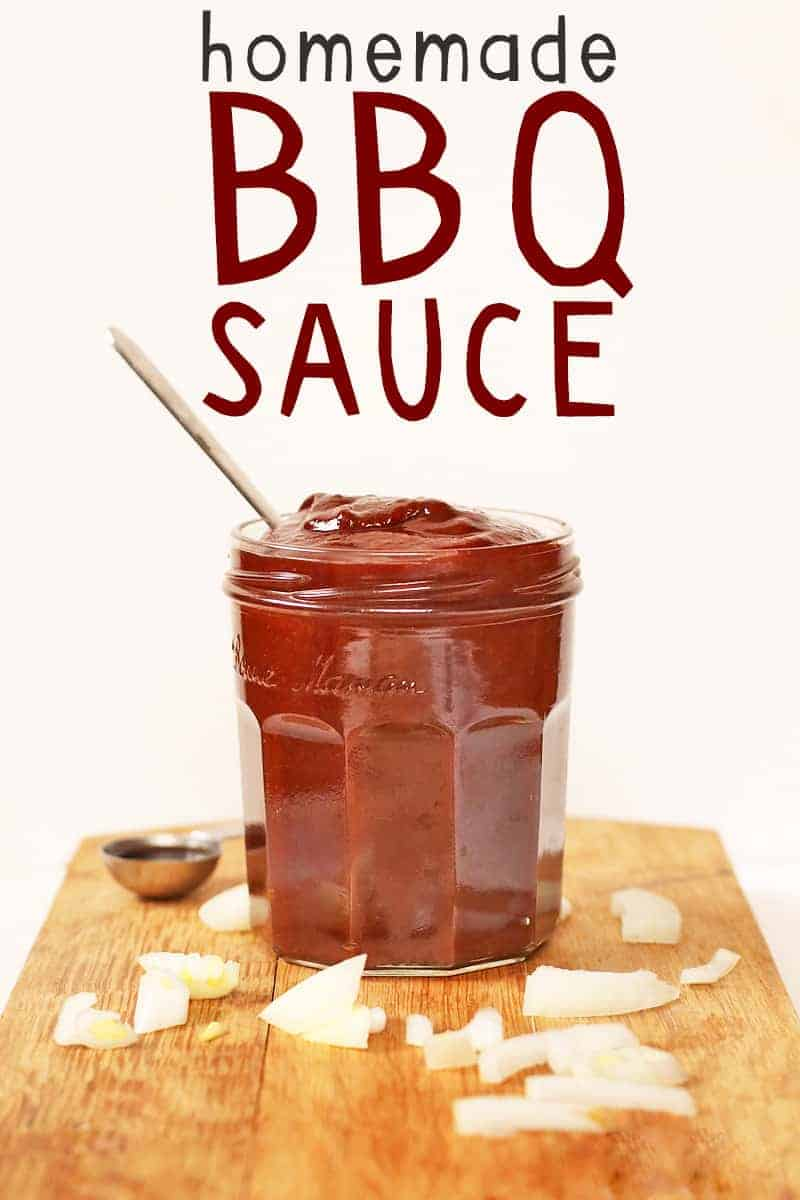 Homemade BBQ Sauce with serving spoon