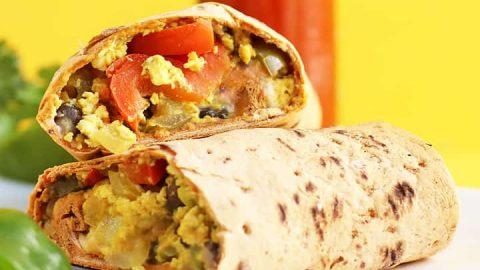 Southwest Vegan Breakfast Burrito