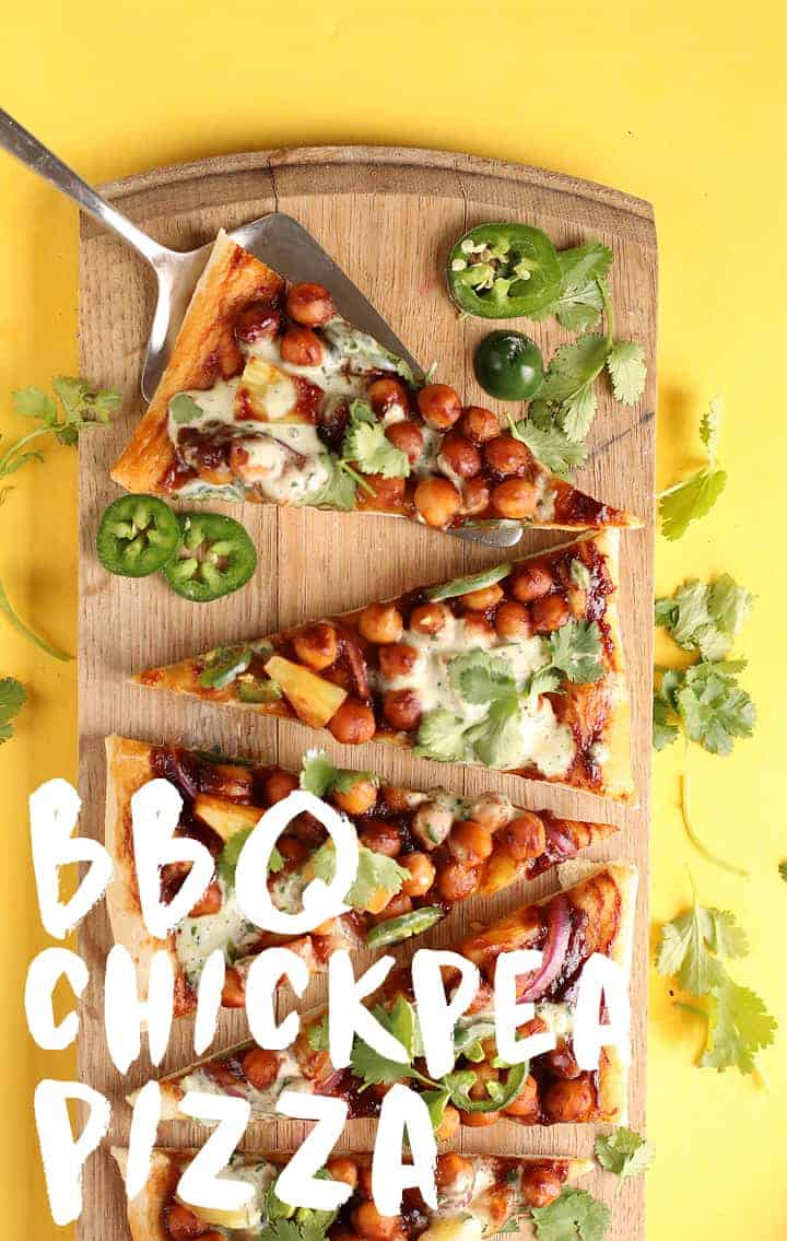 BBQ Chickpea Pizza with Ranch
