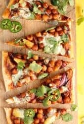 BBQ Chickpeas Pizza with Vegan Ranch