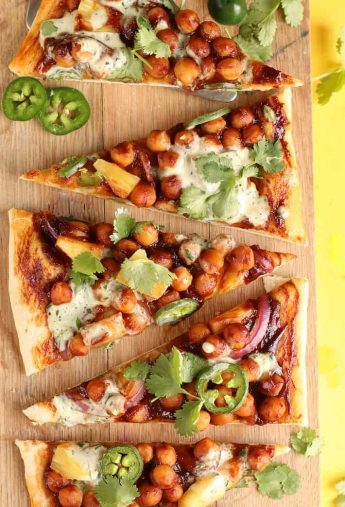 BBQ Chickpea Pizza with Vegan Ranch