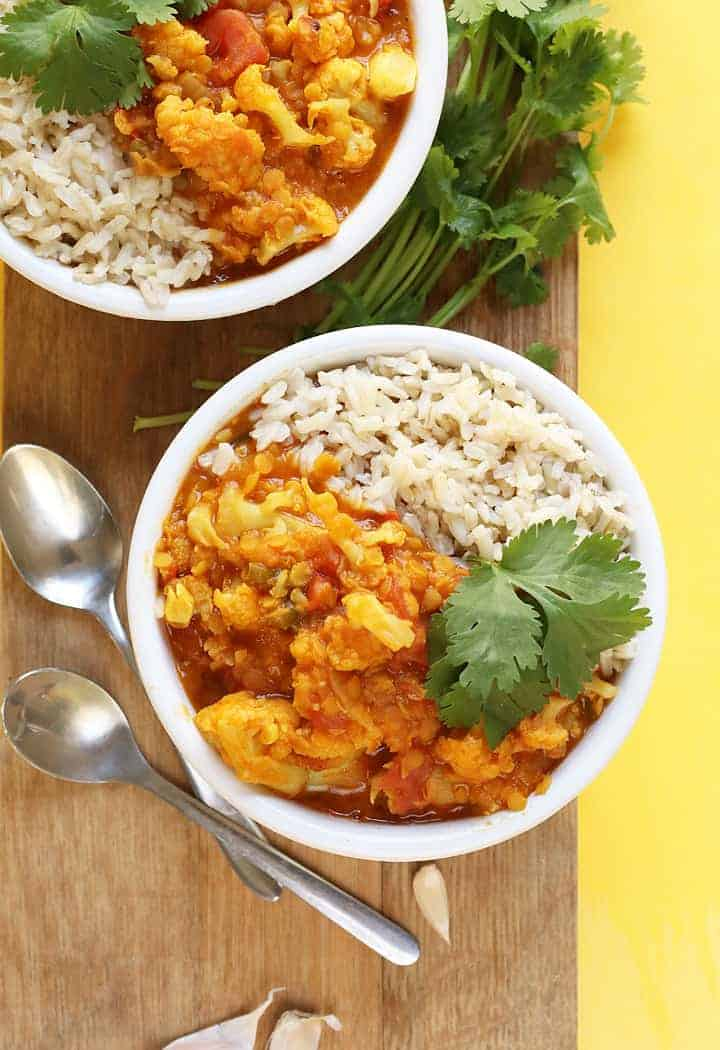 Red Lentil Cauliflower Curry