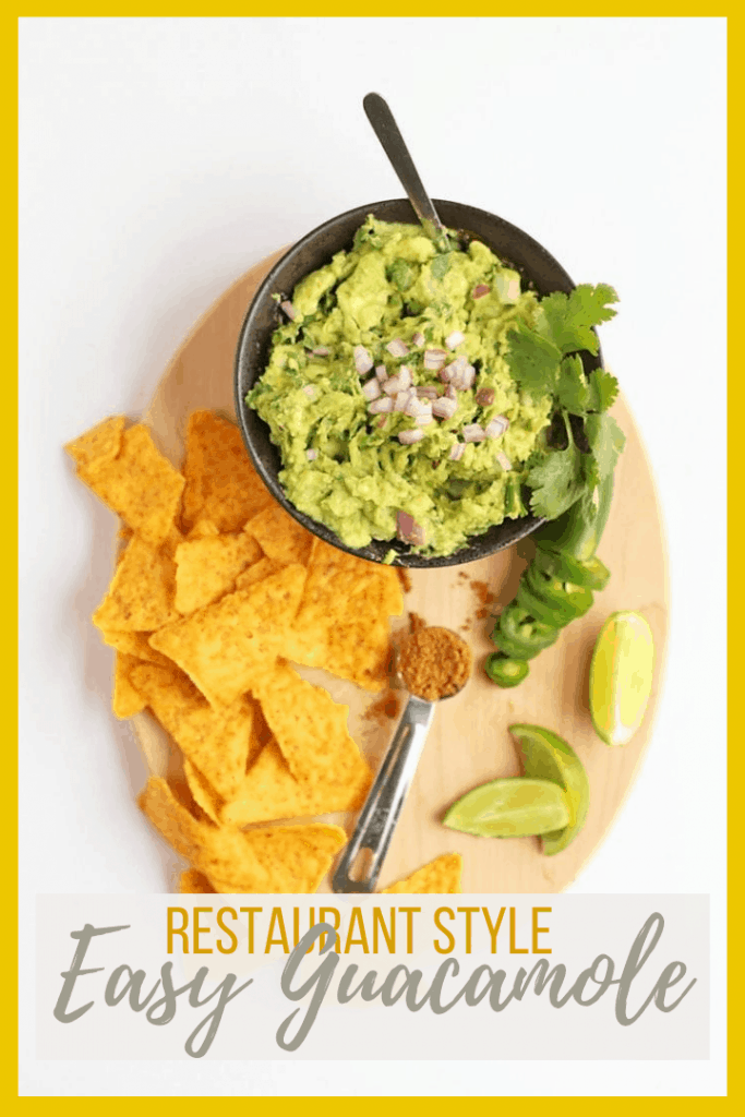 Get your avocado fix with this Easy Guacamole made with ripe avocados, fresh herbs and spices, and lots of flavors. Serve with chips for a delicious appetizer for your next party.