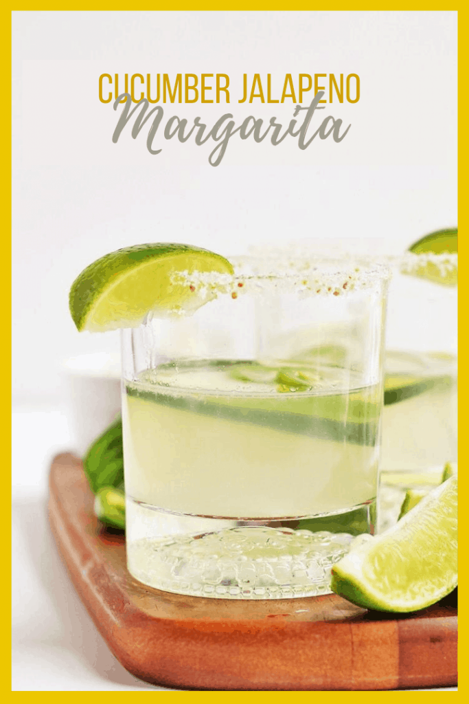 Spice up your cocktail with this Cucumber Jalapeño Cucumber Margarita for a refreshing summer drink with a little bit of a kick.