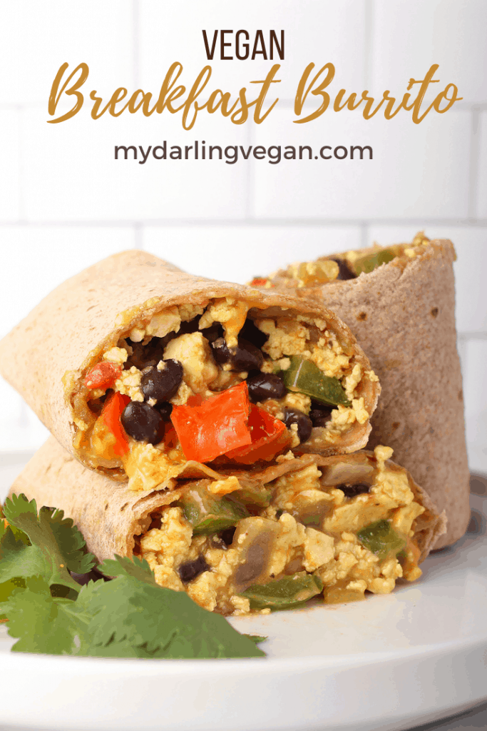 This Southwest Vegan Breakfast Burrito is loaded with protein and vegetables and filled with flavor for a healthy, delicious breakfast. Keep them in the freezer for grab-n-go meals all week long. Made in under 30 minutes!