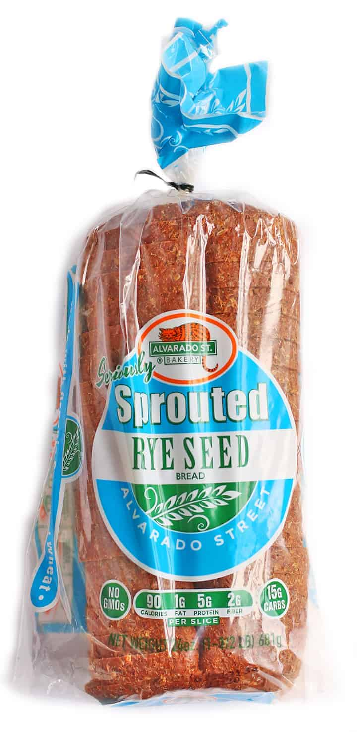 Sprouted Rye Bread in a plastic bag