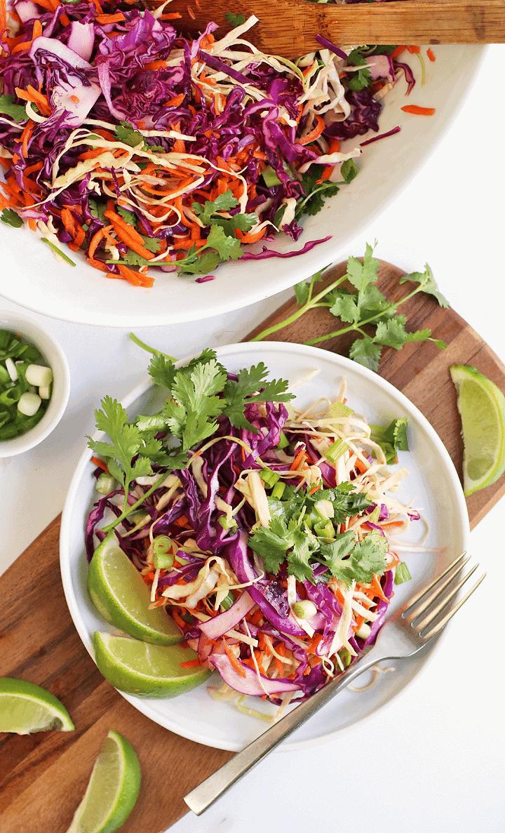 Cilantro Lime Cabbage Salad