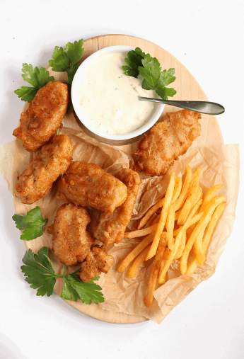 Beer Battered Vegan Fish Sticks