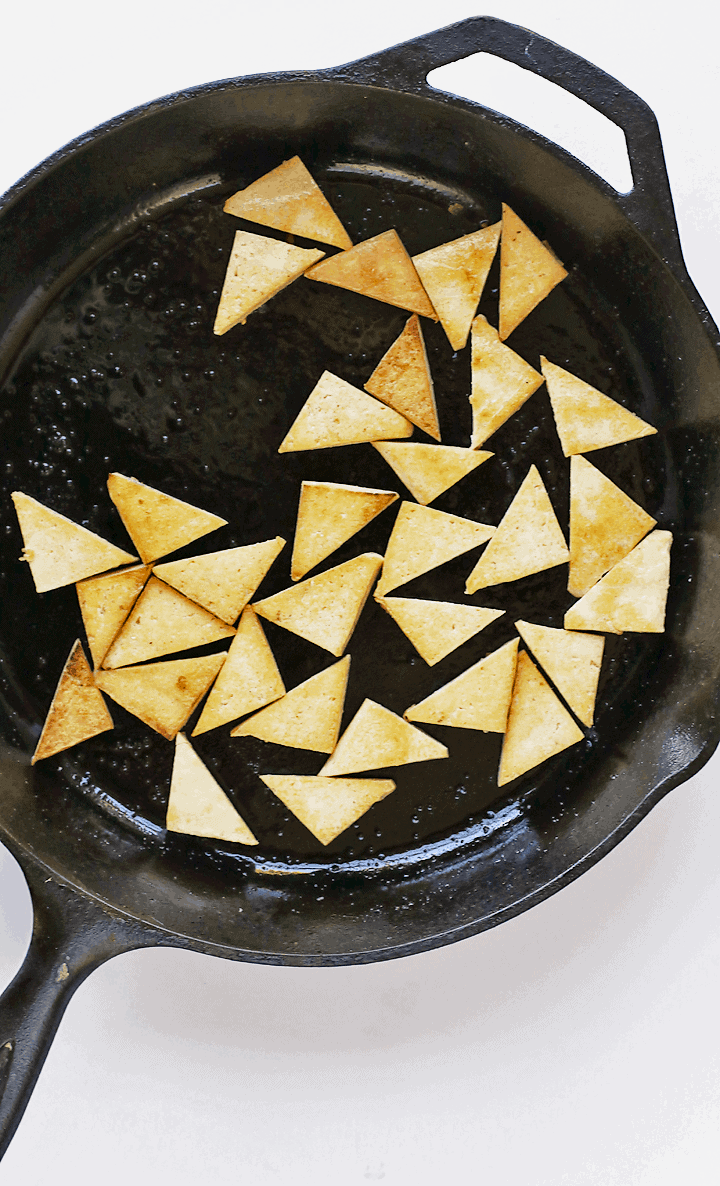 Pan-fried Tofu triangles