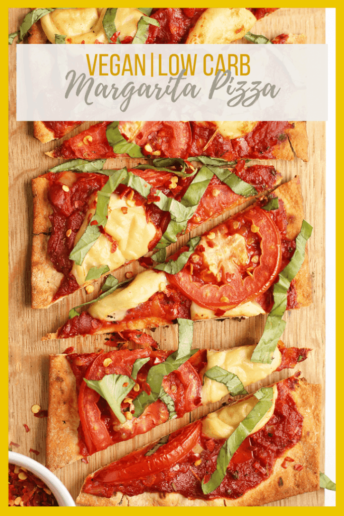 This Vegan Margherita Pizza is made with a thin crust, homemade tomato sauce, and vegan mozzarella for a delicious plant-based classic pizza. Grill or bake for the perfect summer meal.