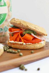 Vegan Lox Bagel Sandwich
