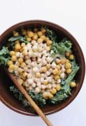 Kale Salad with Lemon Tahini Dressing