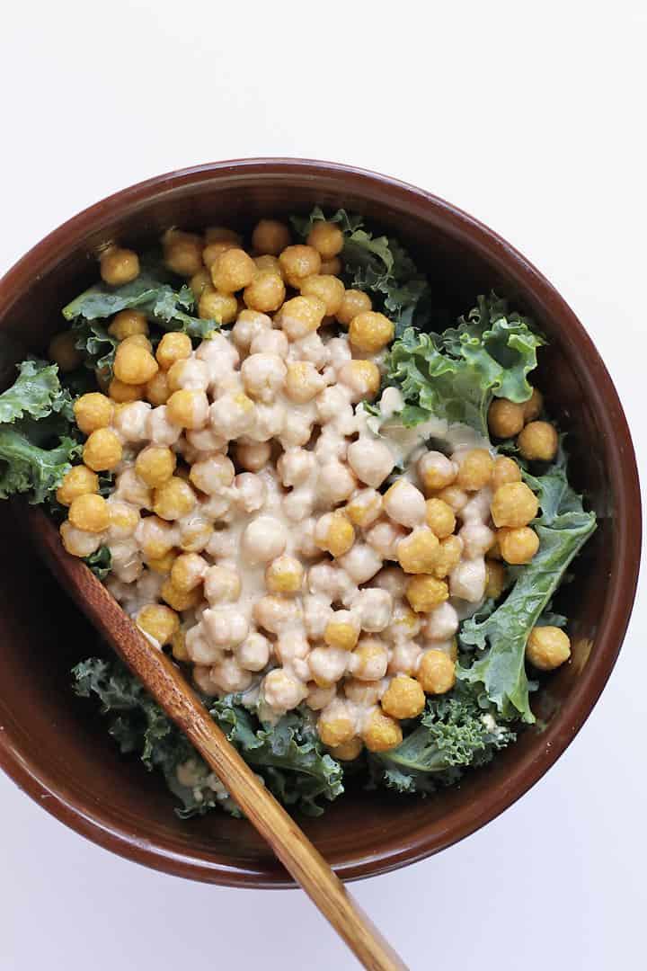 Lemon Tahini Kale Salad