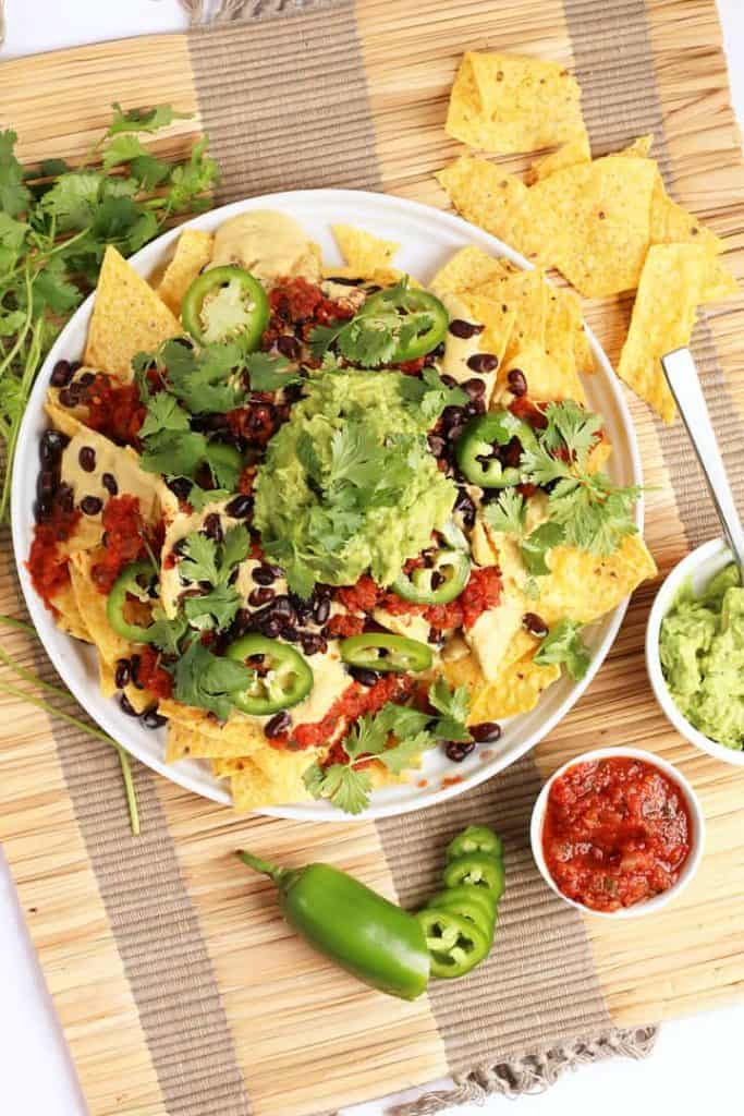 Vegan Nachos with Homemade Queso