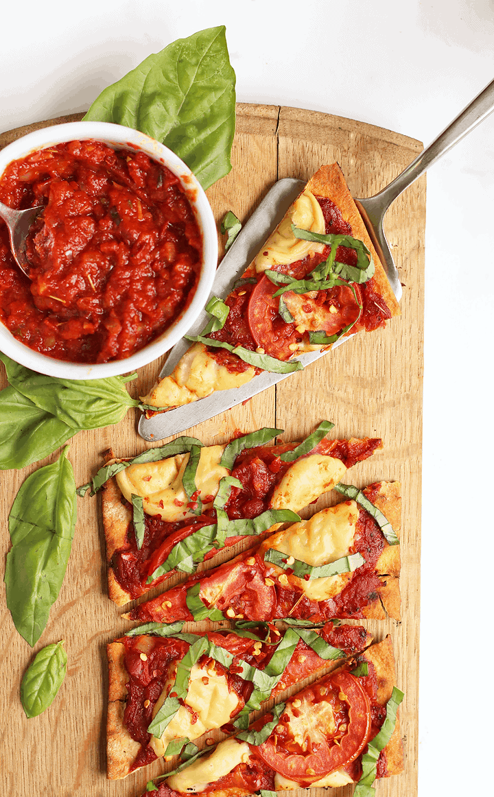 Grilled Vegan Pizza Margherita