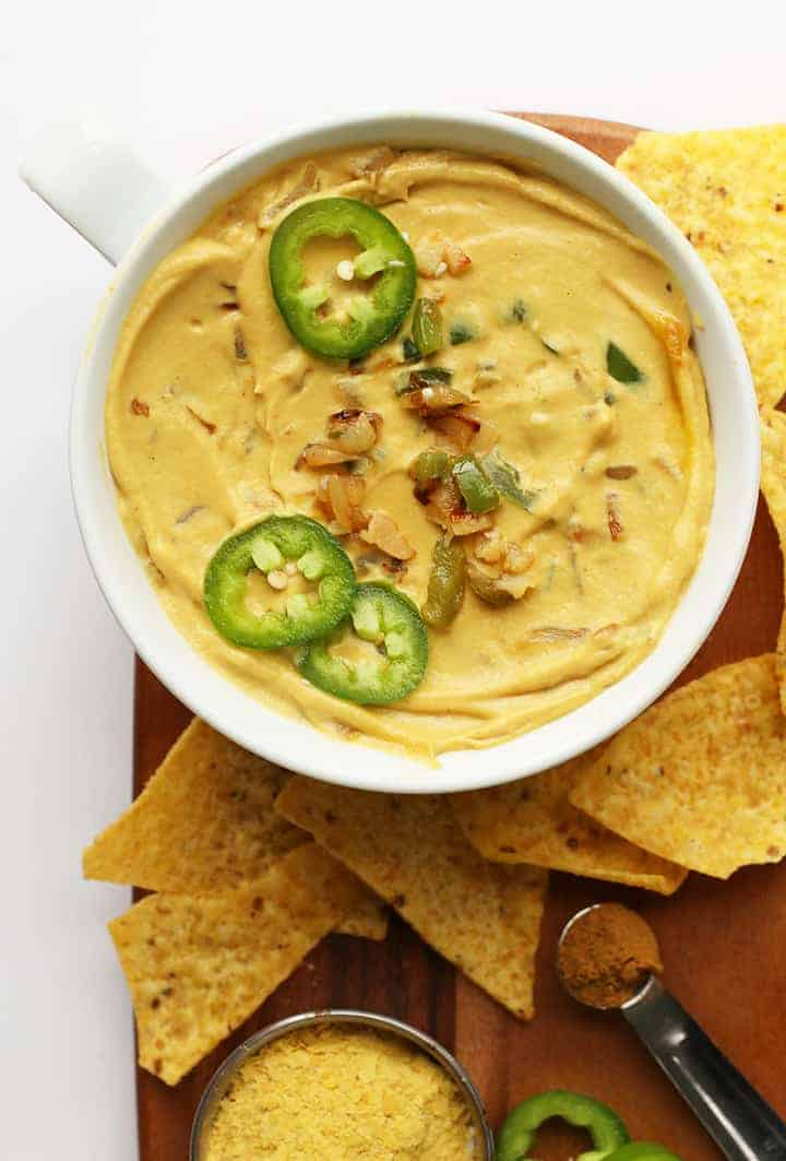 Vegan Cauliflower Queso