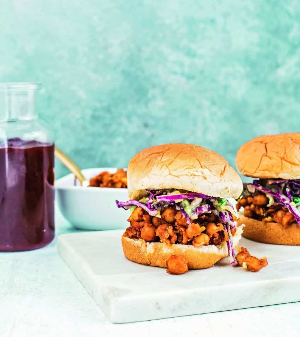BBQ Chickpea Sliders from Frugal Vegan