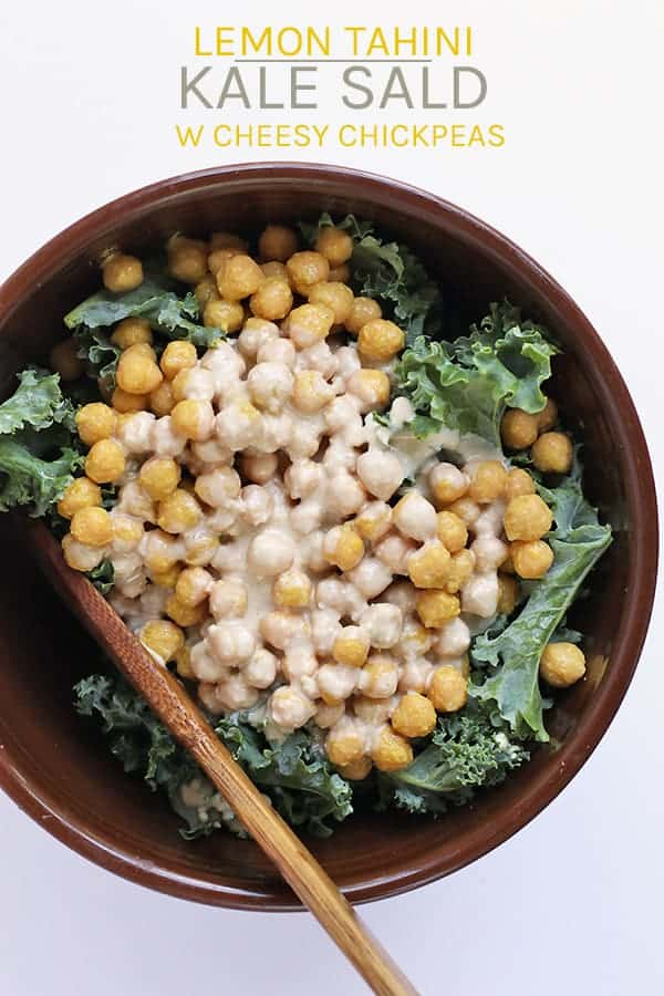 Lemon Tahini Kale Salad