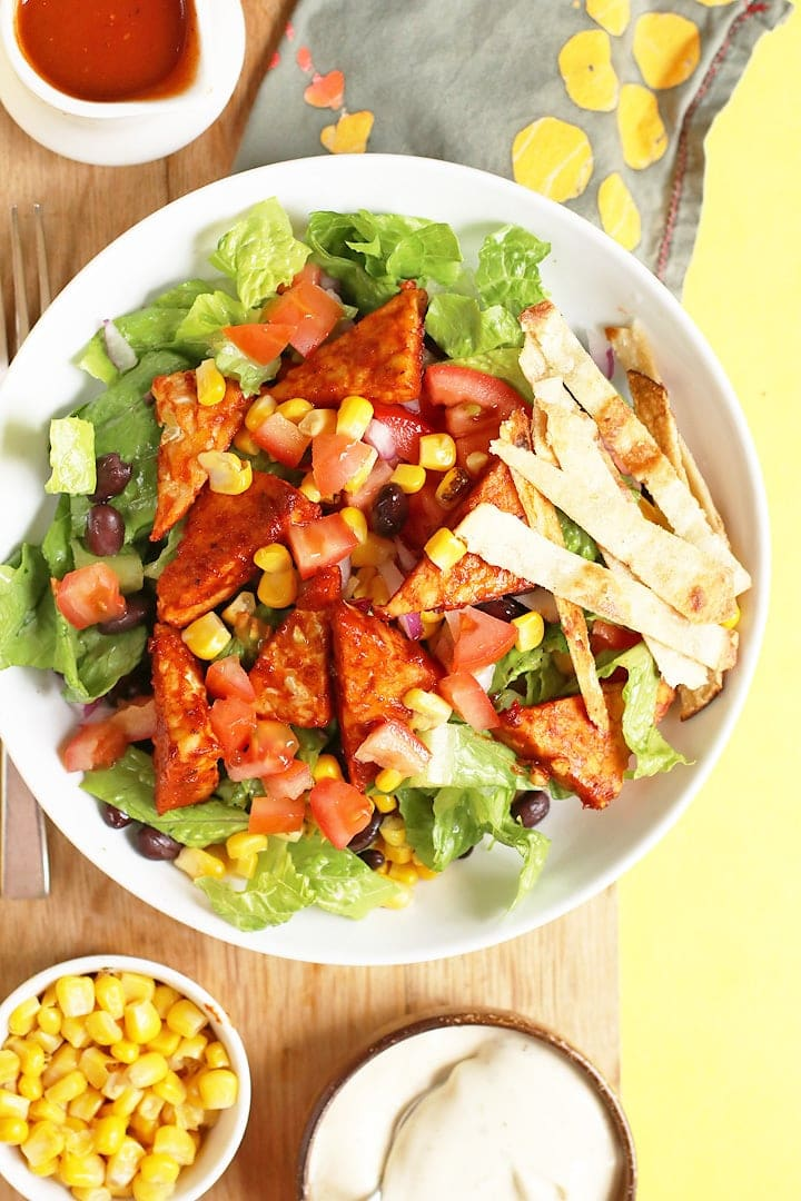Southwest BBQ Tempeh Salad