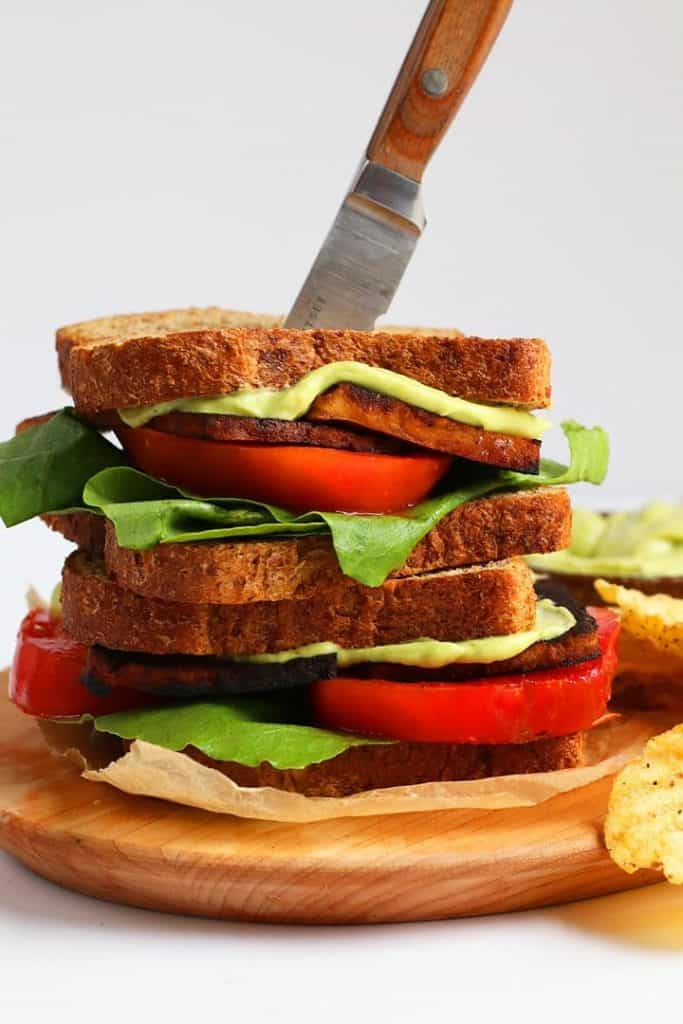 Vegan BLT with Avocado Mayo