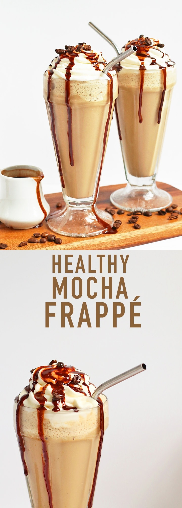 This Mocha Frappé is filled with superfoods and protein for a refreshingly delicious and healthy vegan beverage.