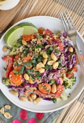 Thai Quinoa Salad with Sesame Peanut Sauce