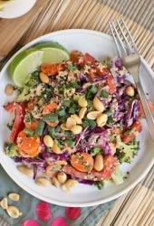 Thai Quinoa Salad with Sesame Peanut Sauce