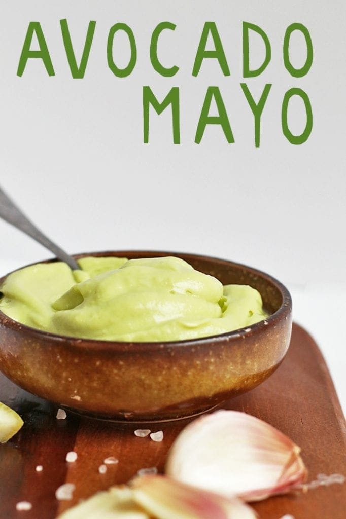 This Avocado Mayo is vegan, soy free, AND oil free for a healthy, delicious, and creamy spread for sandwiches, salads, and vegetables.