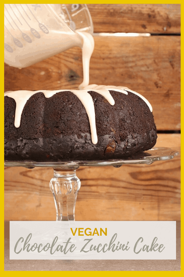 A rich and moist vegan Chocolate Zucchini Cake with cinnamon glaze; the perfect dessert to celebrate the beginning of fall. Pair it with a glass of red wine for a wonderful evening of decadence.