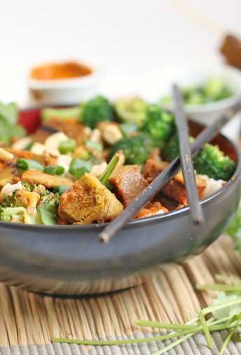 Vegan Curry Satay Buddha Bowl + Instagram GIVEAWAY!