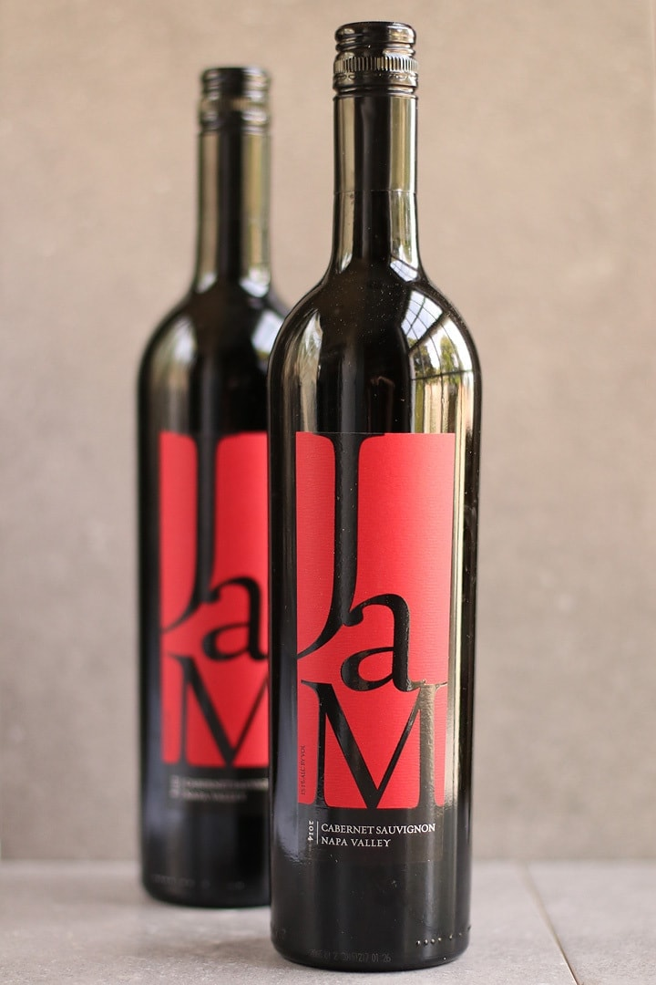 Two bottles of JAM Cabernet