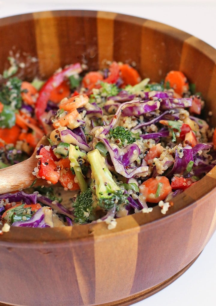 Close up Thai Quinoa Salad
