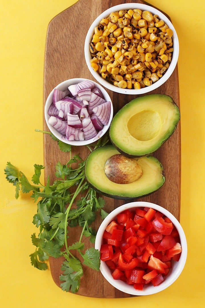 Ingredients for Mexican Tofu Scramble